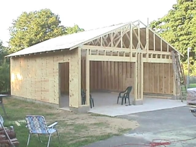 How to build your own 24 x 24 garage and save money step for Build your own house step by step
