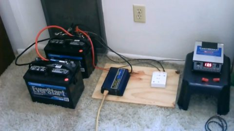 How to build a simple Off Grid Electricity Generation System using Two Batteries
