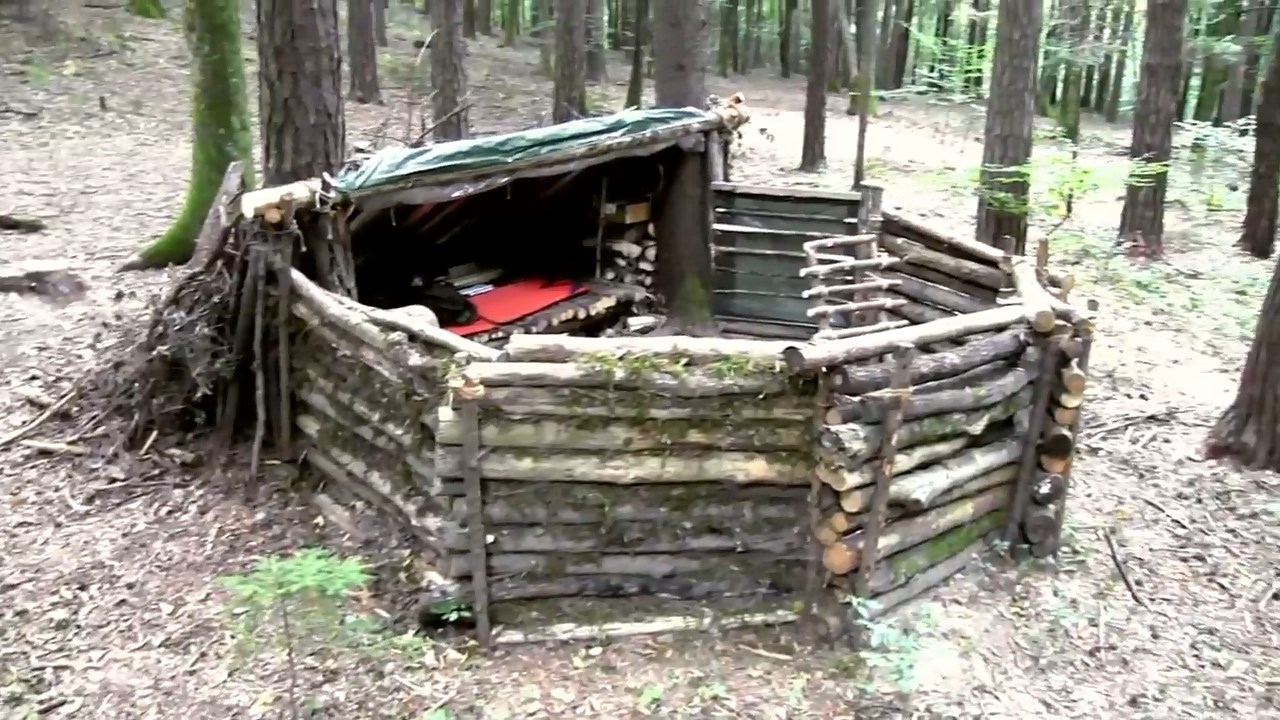 Basement In Your Bug Out Shelter : Diy video how to build a survival super shelter from