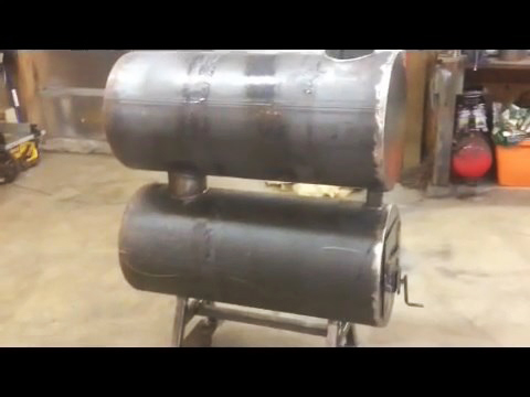 How To Build A Homemade Double Barrel Garage Heater Out Of