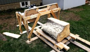 How To Build A Homemade Wooden Bandsaw Mill From Scratch Step By
