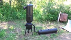 Simple Homemade Wood Gas System