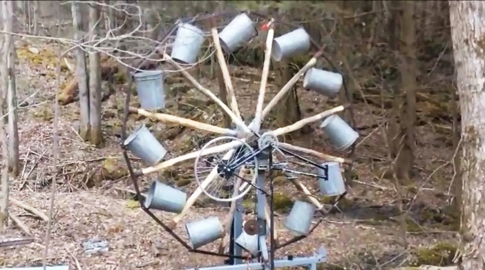 How To Build A Homemade Large Water Wheel Electricity
