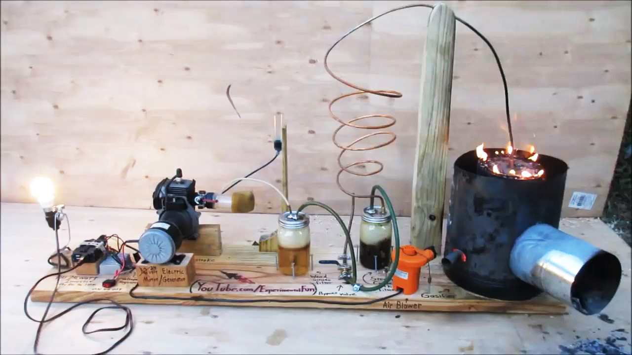 How to run a homemade generator on wood or even trash - Is it bad to run a generator out of gas ...